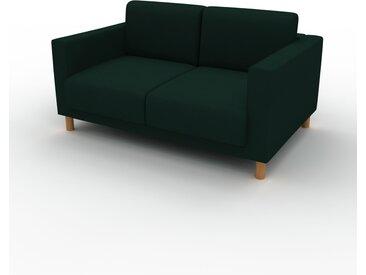 Canapé - Vert Sapin, modèle épuré, canapé pour salon, en tissu avec pieds personnalisables - 144 x 75 x 98 cm, modulable