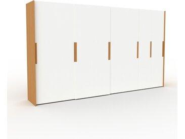 Dressing - Blanc, design, armoire penderie pour chambre ou entrée, haut de gamme, avec portes coulissantes - 404 x 233 x 65 cm, modulable