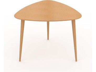 Table basse - Hêtre, triangulaire, design scandinave, petite table pour salon élégante - 59 x 47 x 61 cm, personnalisable