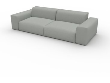 Canapé convertible - Gris Clair, design arrondi, canapé lit confortable, moelleux et lit confortable - 268 x 72 x 107 cm, modulable