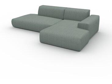 Canapé en U - Bleu Pigeon, design arrondi, canapé d'angle panoramique, grand, bas et confortable - 271 x 72 x 168 cm, modulable