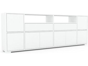 Enfilade - Blanc, design, buffet, avec porte Blanc et tiroir Blanc - 229 x 81 x 35 cm