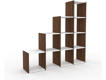 Bibliothèque - Noyer, design, étagère pour livres, sophistiquée, ouverte et fonctionelle - 156 x 157 x 35 cm, personnalisable