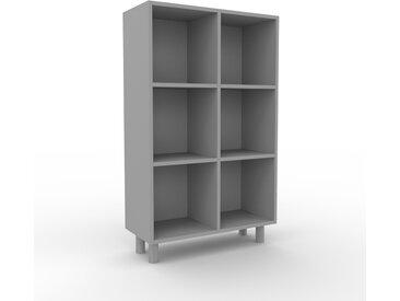 Bibliothèque - Gris, design, étagère pour livres, sophistiquée, ouverte et fonctionelle - 79 x 130 x 35 cm, personnalisable