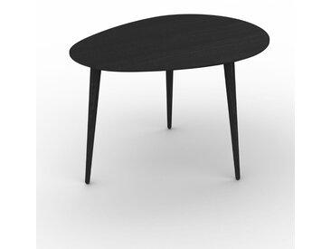 Table basse - Wengé, ovale, design scandinave, petite table pour salon élégante - 67 x 44 x 50 cm, personnalisable