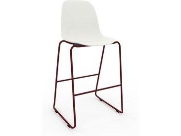 Chaise de bar blanc de 49 x 112 x 58 cm au design unique, configurable