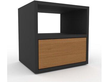 Table de chevet - Chêne, contemporaine, table de nuit, avec tiroir Chêne - 41 x 41 x 35 cm, modulable