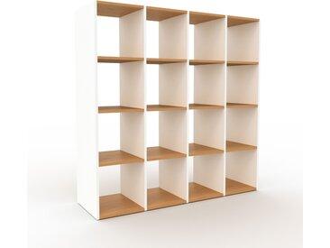 Système d'étagère - Blanc, design contemporain, rangements de qualité, modulables - 156 x 157 x 47 cm, personnalisable