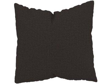 Coussin Brun Chocolat - 50x50 cm - Housse en Textile tissé. Coussin de canapé moelleux