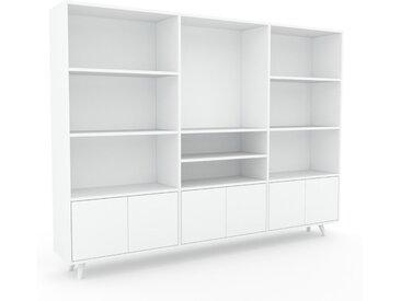 Système d'étagère - Blanc, modulable, rangements, avec porte Blanc - 226 x 168 x 35 cm
