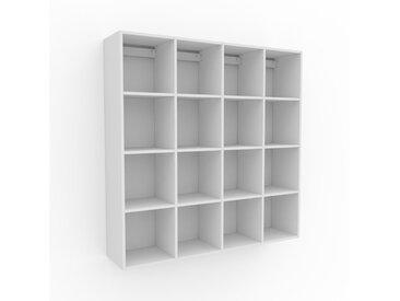 Étagère murale - Blanc, contemporaine, placard, rangements pour livres élégants, pratiques - 156 x 157 x 35 cm, personnalisable