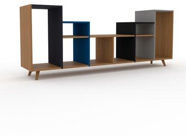 Range CD - Chêne, design contemporain, meuble pour vinyles, DVD - 233 x 91 x 47 cm, personnalisable