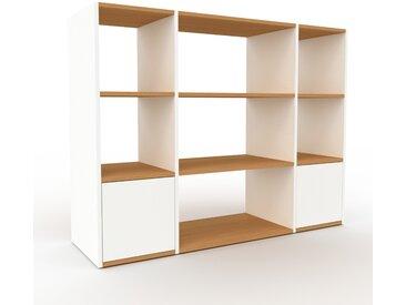 Système d'étagère - blanc, modulable, rangements, avec porte blanc - 154 x 118 x 47 cm