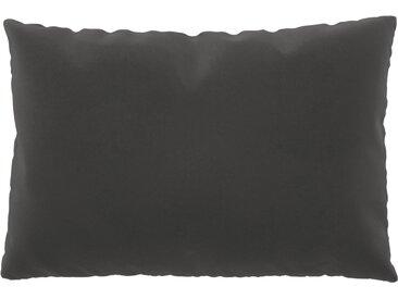Coussin Grège - 40x60 cm - Housse en Velours. Coussin de canapé moelleux