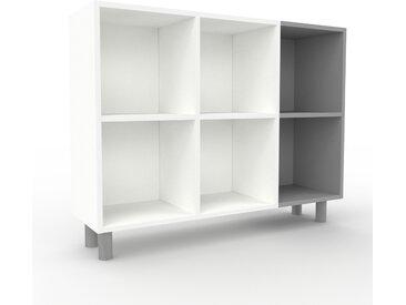 Bibliothèque - Blanc, design, étagère pour livres, sophistiquée, ouverte et fonctionelle - 118 x 91 x 35 cm, personnalisable