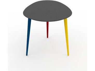Table basse - Anthracite, ovale, design scandinave, petite table pour salon élégante - 67 x 50 x 50 cm, personnalisable