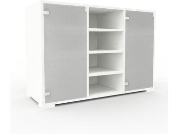 Vitrine - Verre clair dépoli, moderne, pour documents, avec porte Verre clair dépoli - 118 x 81 x 47 cm, personnalisable
