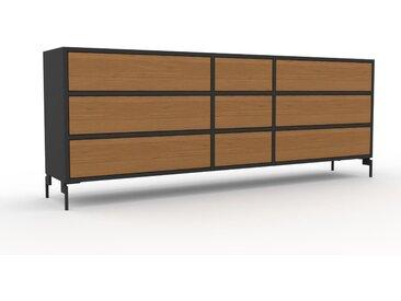 Enfilade - Chêne, contemporaine, buffet, avec tiroir Chêne - 190 x 72 x 35 cm, modulable