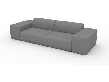 Canapé convertible - Blanc Granite, design arrondi, canapé lit confortable, moelleux et lit confortable - 294 x 72 x 107 cm, modulable