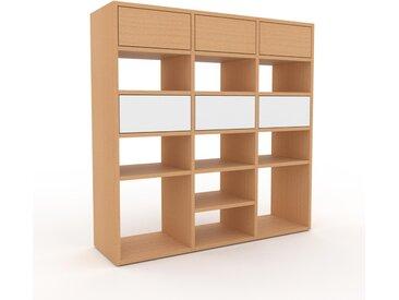 Système d'étagère - Hêtre, modulable, rangements, avec tiroir Hêtre - 118 x 118 x 35 cm