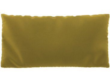Coussin Jaune Colza - 40x80 cm - Housse en Velours. Coussin de canapé moelleux