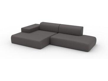Canapé en U - Gris gravier, design arrondi, canapé d'angle panoramique, grand, bas et confortable - 310 x 72 x 168 cm, modulable