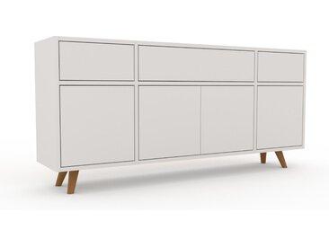 Buffet bas - Blanc, design contemporain, avec porte Blanc et tiroir Blanc - 154 x 72 x 35 cm