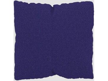 Coussin Bleu Encre - 40x40 cm - Housse en Laine. Coussin de canapé moelleux
