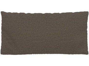 Coussin Brun Gris - 40x80 cm - Housse en Laine. Coussin de canapé moelleux