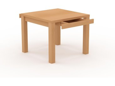 Bureau - Hêtre, design, table de travail raffinée, avec tiroir Hêtre et cadre Hêtre - 90 x 76 x 90 cm, modulable