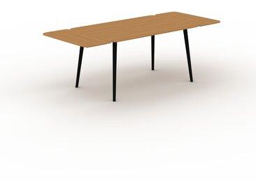 Bureau scandinave - Chêne, design moderne, table de travail nordique, avec pieds inclinés et épurés - 220 x 75 x 90 cm, modulable