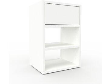 Caisson à roulette - blanc, pièce modulable, rangement mobile, avec tiroir blanc - 41 x 61 x 35 cm