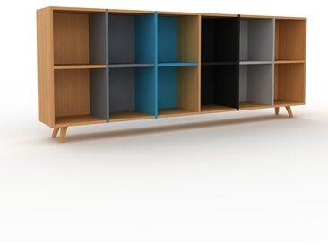 Bibliothèque - Chêne, design, étagère pour livres, sophistiquée, ouverte et fonctionelle - 233 x 91 x 35 cm, personnalisable