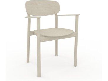 Chaise avec accoudoirs Bouleau de 52 x 82 x 58 cm au design unique, configurable