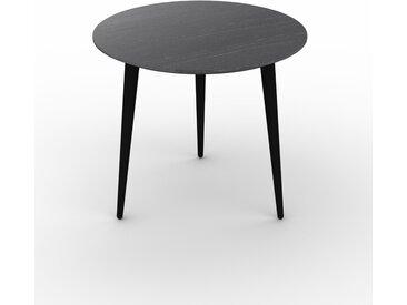 Table basse - Noir, ronde, design scandinave, petite table pour salon élégante - 50 x 44 x 50 cm, personnalisable