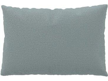 Coussin Gris Clair - 40x60 cm - Housse en Textile tissé. Coussin de canapé moelleux