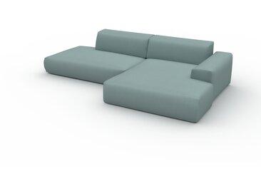 Canapé en U - Bleu pigeon, design arrondi, canapé d'angle panoramique, grand, bas et confortable - 296 x 72 x 168 cm, modulable