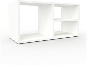Caisson à roulette - Blanc, design, rangement mobile raffiné, pratique - 79 x 41 x 35 cm, modulable