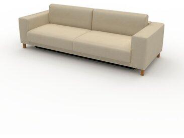 Canapé convertible - Beige taupe, design épuré, canapé lit confortable, confortable avec coffre de rangement - 248 x 75 x 98 cm, modulable