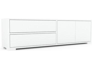 Buffet bas - Blanc, design contemporain, avec porte Blanc et tiroir Blanc - 152 x 43 x 35 cm