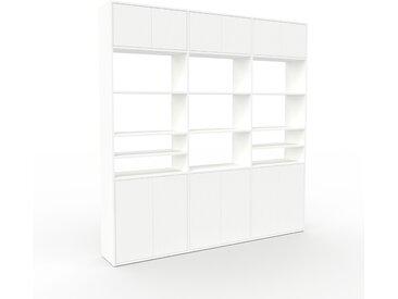Système d'étagère - Blanc, modulable, rangements, avec porte Blanc - 226 x 233 x 35 cm