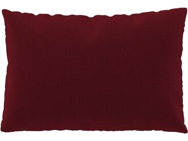 Coussin Rouge Cerise - 40x60 cm - Housse en Laine. Coussin de canapé moelleux