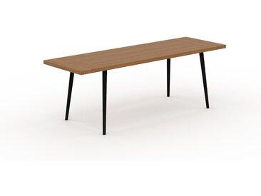 Table à manger - Chêne, design scandinave, pour salle à manger ou cuisine nordique, table extensible à rallonge - 220 x 75 x 70 cm