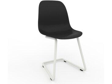 Chaise cantilever noir de 49 x 82 x 44 cm au design unique, configurable