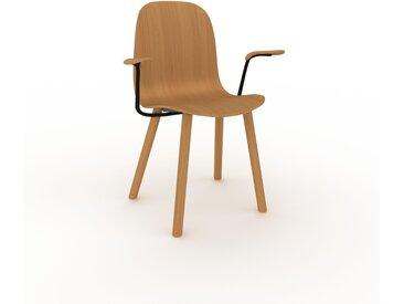 Chaise avec accoudoirs Chêne de 49 x 83 x 62 cm au design unique, configurable