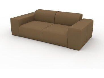 Canapé en cuir - Noix Cuir Nubuck, lounge, esprit club ou cosy avec toucher chaleureux - 216 x 72 x 107 cm, modulable
