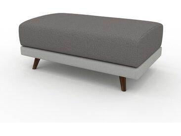Pouf - Gris gravier, design épuré, 100 x 42 x 60 cm, modulable