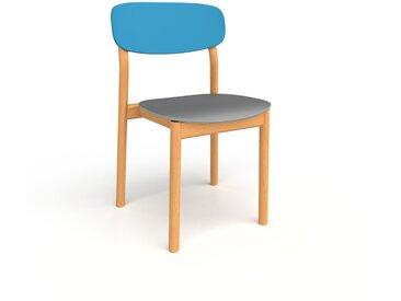 Chaise de salle à manger gris de 52 x 82 x 49 cm au design unique, configurable