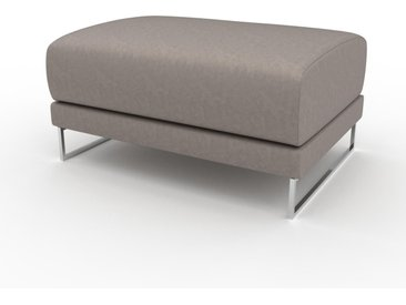 Pouf - Beige taupe, design épuré, 80 x 42 x 60 cm, modulable