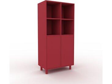 Buffet - Rouge bordeaux, pièce modulable, enfilade, avec porte Rouge bordeaux - 79 x 168 x 47 cm